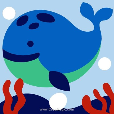 Kit canevas avec fils baleine ronde - Margot