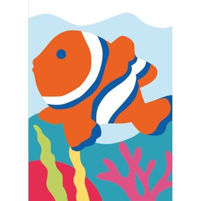 Kit canevas enfants le poisson clown de DMC