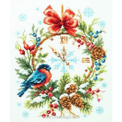 A l'heure de noël - christmas time modèle Magic Needle au point de croix