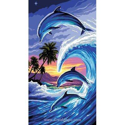 Canevas Rafael Angelot dauphins sous les tropiques