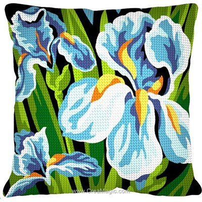 Kit coussin Margot les 3 iris au demi point
