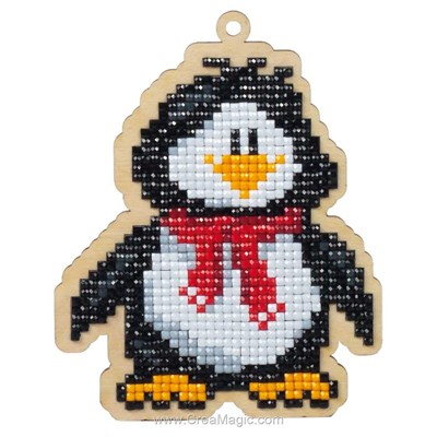 Kit broderie diamant Wizardi penguin willie