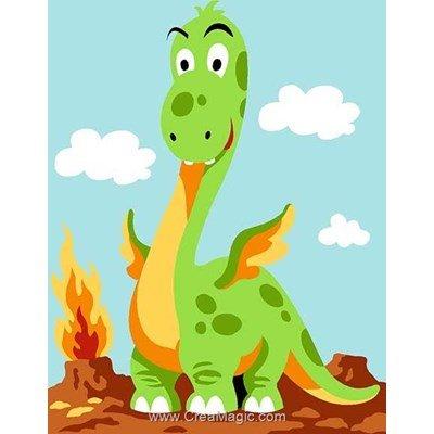 Kit canevas avec fils dragon rigolo - Margot