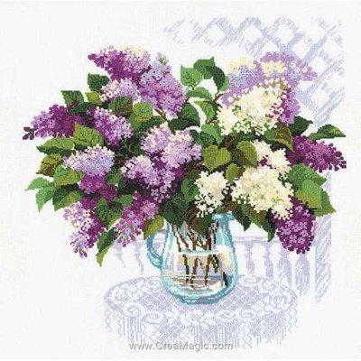 Le point de croix le grand bouquet de lilas de RIOLIS