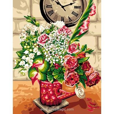 L'arrosoir aux fleurs canevas chez Luc Création