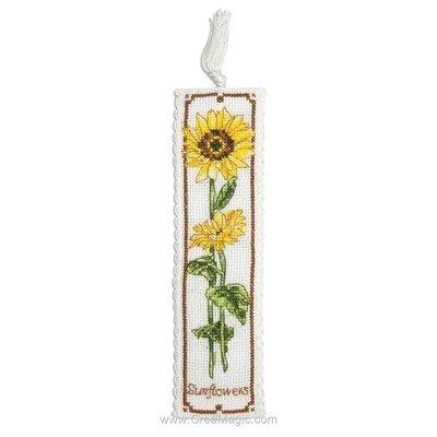 Marque-page à broder sunflower Anchor