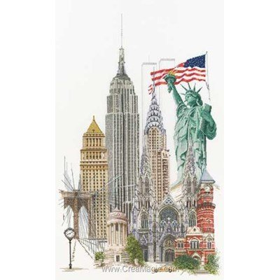 New york sur aida broderie point de croix - Thea Gouverneur