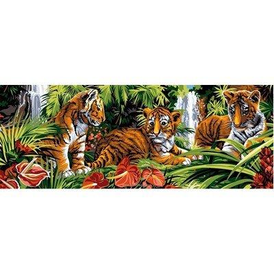 Les tigreaux et plantes exotiques canevas chez SEG