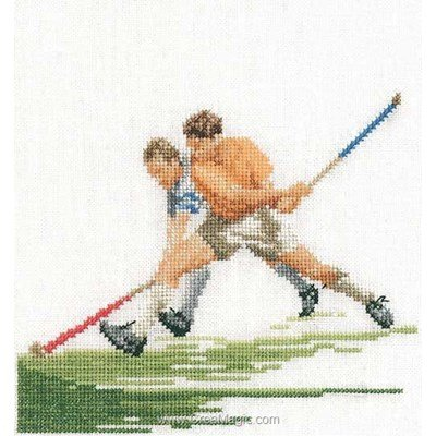 Tableau point de croix hockey sur lin de Thea Gouverneur