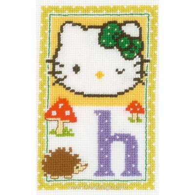 Vervaco broder au point de croix hello kitty lettre h