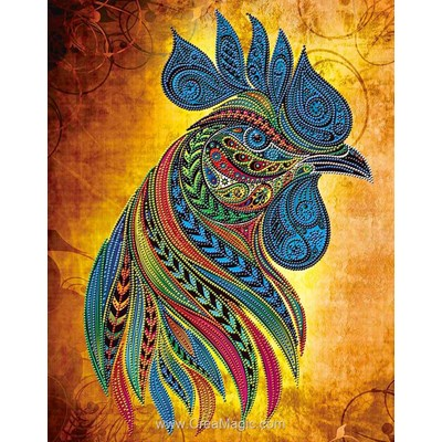 Kit broderie diamant rooster - water force - Diamond Painting