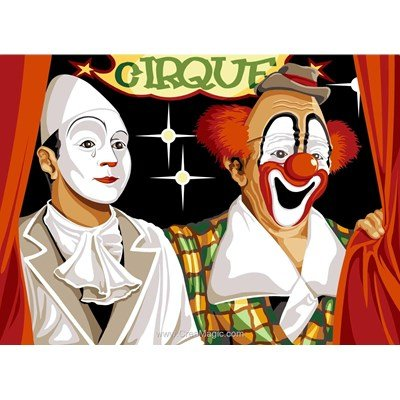 Canevas le cirque du rire aux larmes - SEG