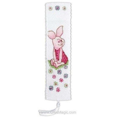 Marque-pages à broder disney porcinet et fleurs Anchor