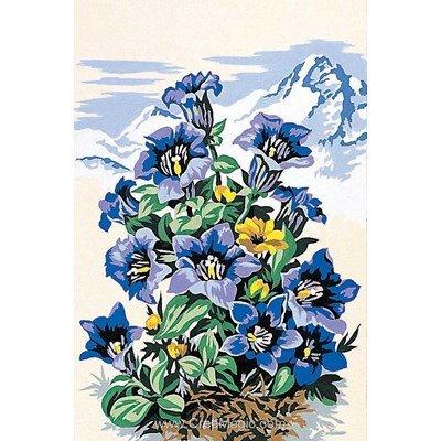 Canevas fleurs des montagnes bleues de SEG