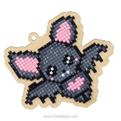 Kit broderie diamant love bat - Wizardi