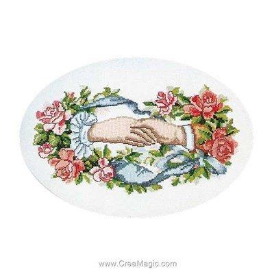 Poetry joining hands sur aida point de croix compté - Thea Gouverneur
