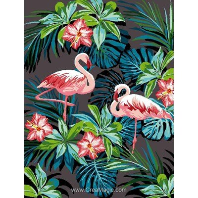 Canevas déco flamants rose de Mimo Verde