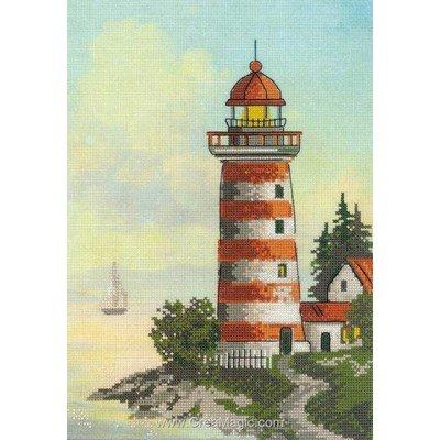 Kit RIOLIS à broder la maison du phare rouge