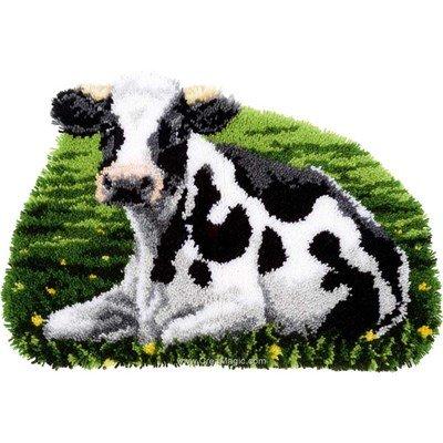 Kit tapis point noué Vervaco le repos de la vache