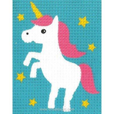 La licorne aux étoiles kit canevas enfant - Vervaco
