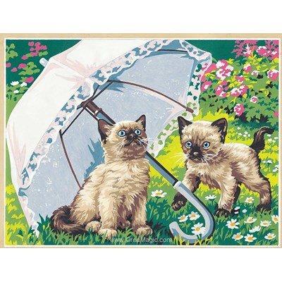 SEG canevas chatons sous la belle ombrelle