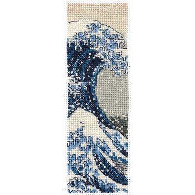 Marque page à broder katsushika hokusai - la vague de DMC