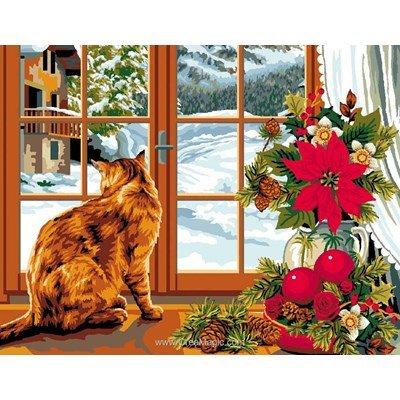 Canevas Mimo Verde l'hiver à la fenêtre
