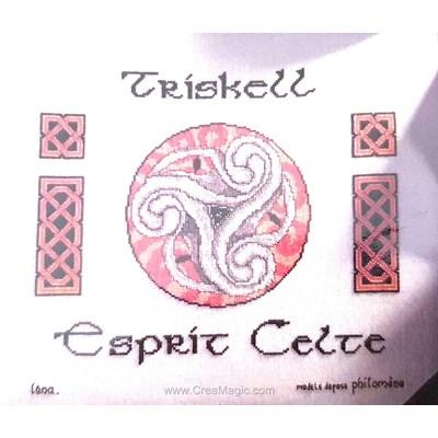 Broderie de Philomene au point de croix triskell esprit celte