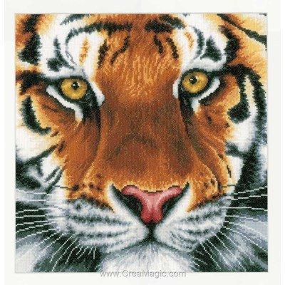 Les yeux du tigre kit broderie point de croix - Lanarte