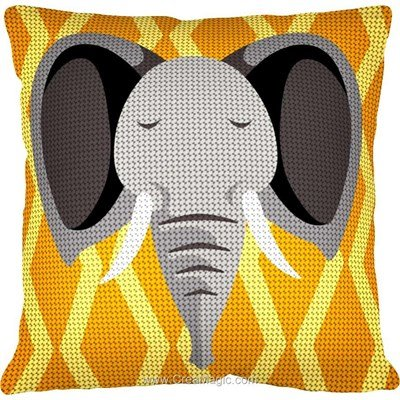 Coussin eléphant africa de Margot au demi point