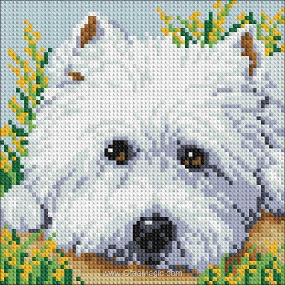 Broderie diamant cute puppy de Diamond Painting