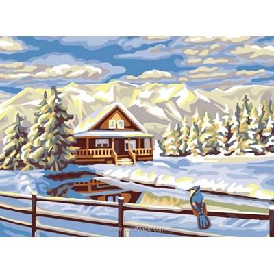 Etang en hiver canevas - Collection d'art