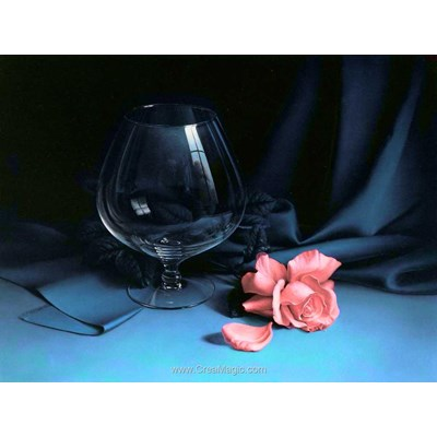 Kit broderie diamant Diamond Painting le verre et la rose