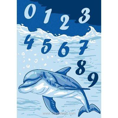 Canevas enfant en kit Luc Création abc dauphin