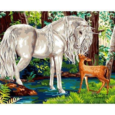 La licorne et le faon canevas - Mimo Verde