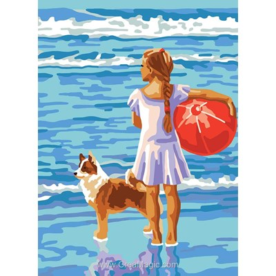 Amitié les pieds dans l'eau canevas - Collection d'art
