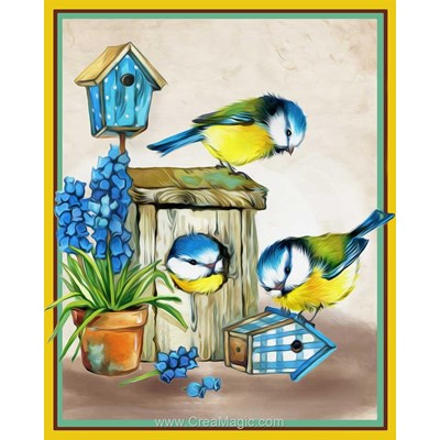 Broderie diamant friendly birds de Diamond Painting