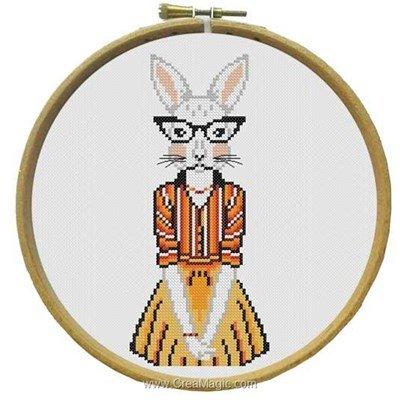Modèle broderie Marie Coeur nina - la lapine