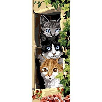 Les trois chats canevas - SEG