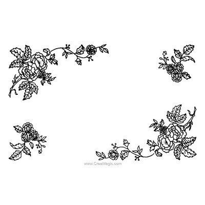 Kit napperon charme de roses à broder aux points de broderie - Luc Création NPR350