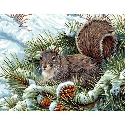 Canevas l'écureuil - Mimo Verde