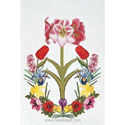 Kit au point de croix compté amaryllis sur aida de Thea Gouverneur