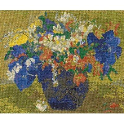 Le vase de fleurs de gauguin national gallery la broderie - DMC
