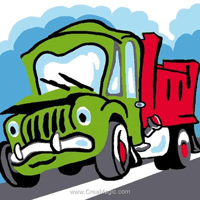 Kit canevas Luc Création pour enfants camion benne