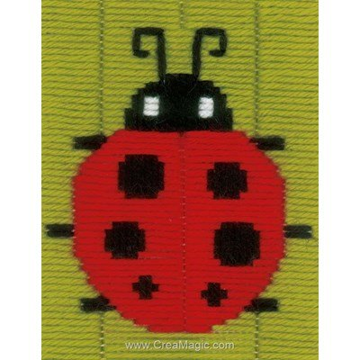 Canevas point lance Vervaco coccinelle rouge