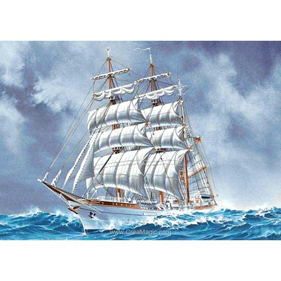 Broderie diamant sailing ship de Wizardi