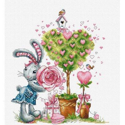 Kit à broder Luca-S valentine et coeur