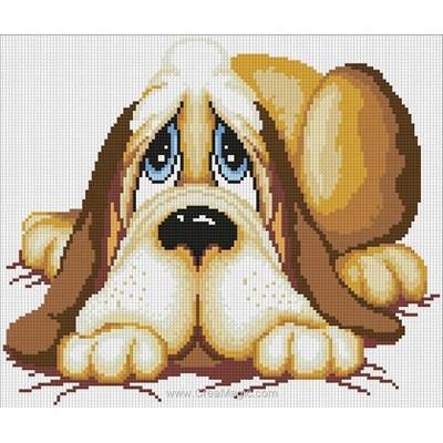 Kit broderie diamant sleeping dog - Diamond Painting
