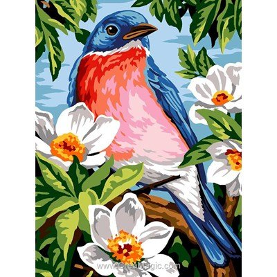 Margot canevas oiseau et fleurs