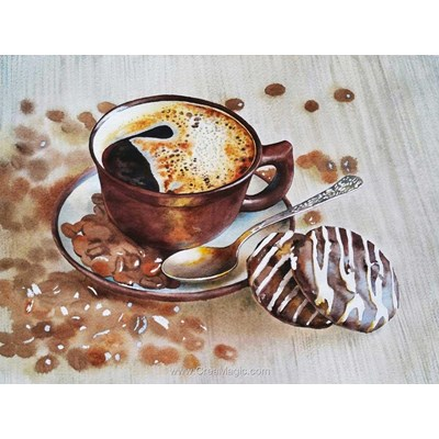 Broderie diamant refreshing coffee de Diamond Painting